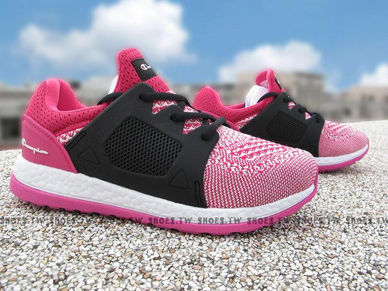 《限時特價799元》Shoestw【732220166】Champion 休閒鞋 ATHLETIC 粉桃黑 襪套 網布 女生 0