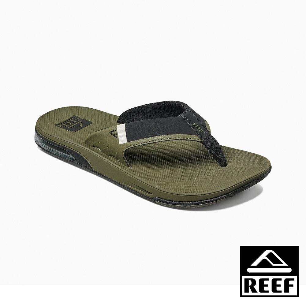 【新品上市迎新送舊↘】REEF 氣墊開瓶器升級版 一體成形織帶 舒適好穿防滑耐磨 經典男款夾腳人字拖鞋 . 橄欖綠
