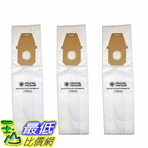 [106美國直購] 3 Hoover HEPA Style Type Q Allergy Filtration Vacuum Bags AH10000, UH30010COM