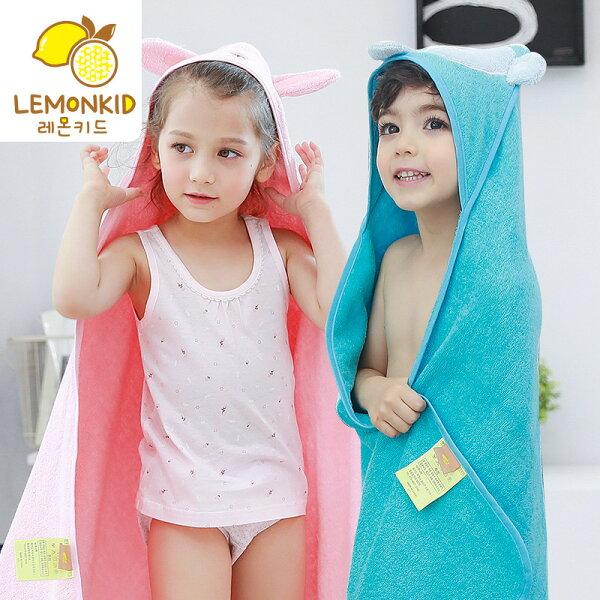 Lemonkid:Lemonkid檸檬寶寶◆冬季保暖五色卡通動物全棉寬大浴巾90cm*90cm