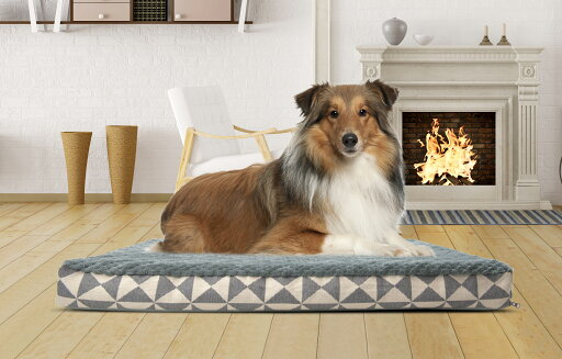 FurHaven Pet Bed Plush Kilim Orthopedic Deluxe Mattress Pet Bed for Dogs & Cats - Available in Multiple Colors & Sizes