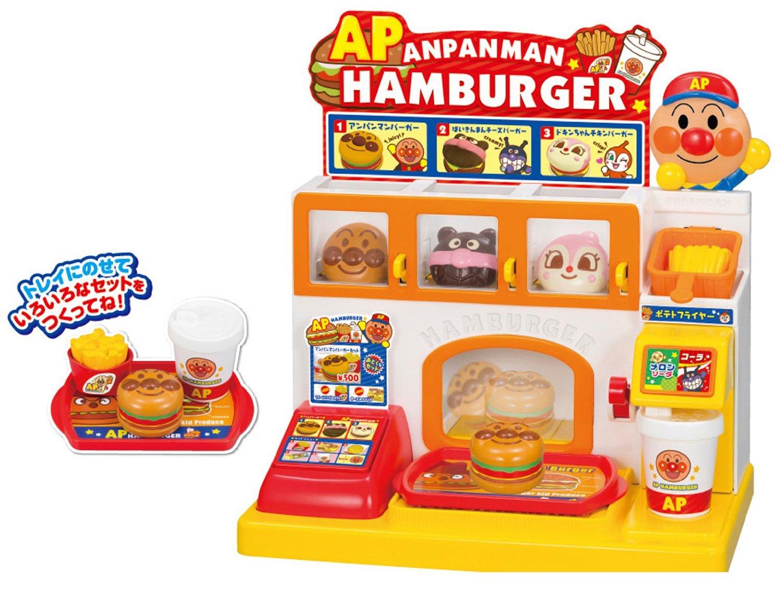 **雙子俏媽咪親子館** [日本] 麵包超人 Anpanman 漢堡速食店組 (現貨)