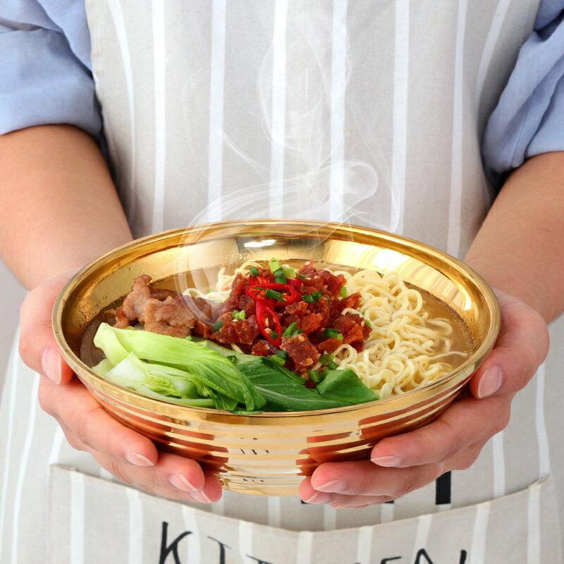 不銹鋼碗 304不銹鋼碗家用創意個性可愛拉面碗單個吃面大碗餐具大號湯碗【xy2121】
