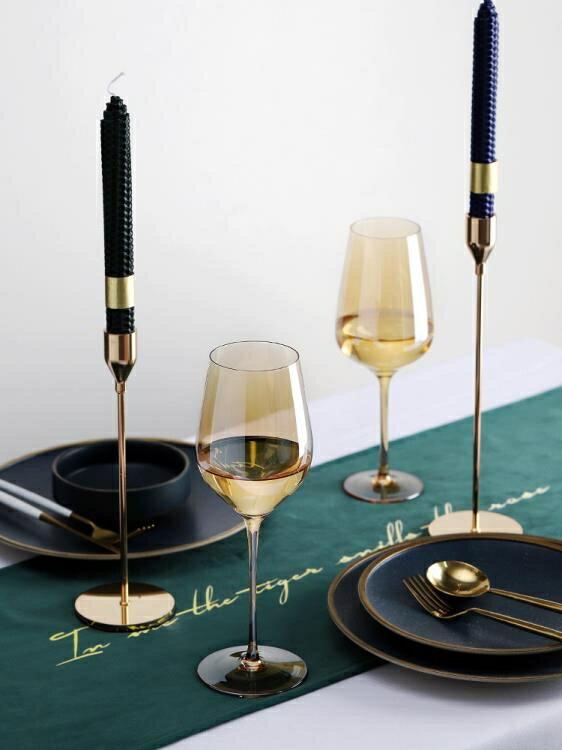 酒杯 紅酒杯套裝水晶玻璃家用香檳杯創意高腳杯葡萄酒杯歐式小奢華大號 凯斯顿 新年春節 送禮