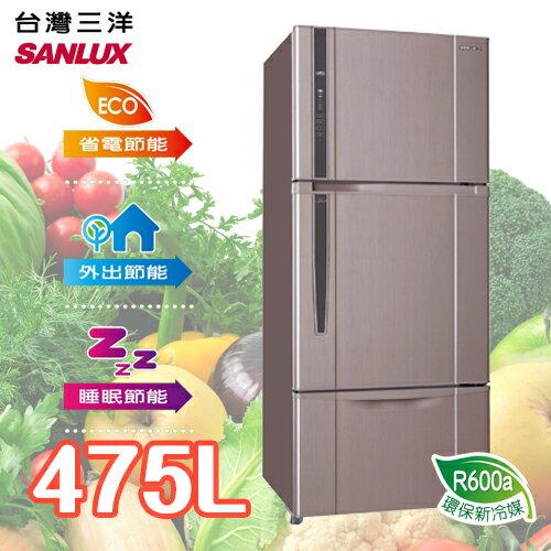 SANLUX SANYO 台灣三洋 475L三門直流變頻冰箱 SR-B475CV
