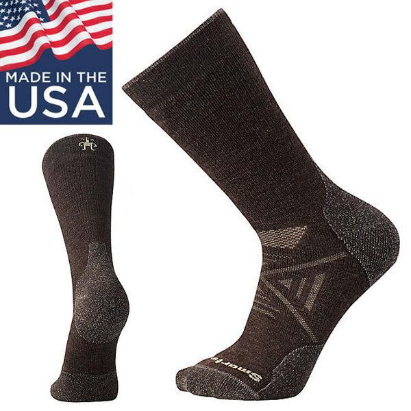 【Smartwool美國】PhDOutdoorMediumCrew厚避震墊中筒襪美麗諾羊毛襪登山襪栗子棕/SW001071207