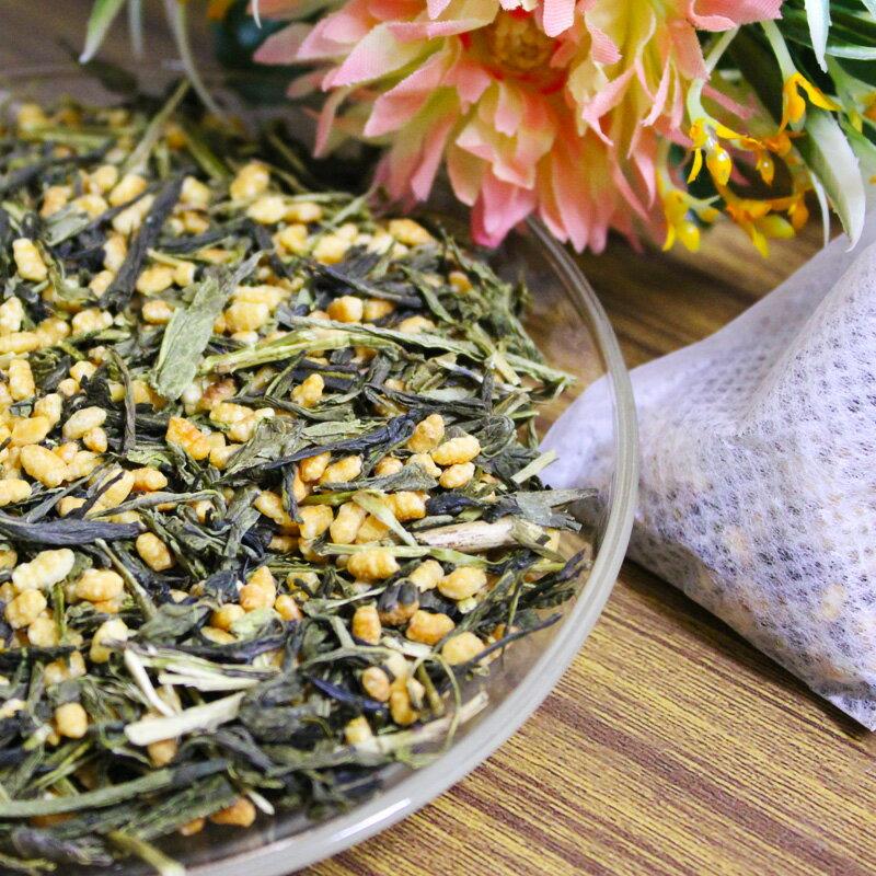 日式玄米茶 15入~手做立體茶包。 玄米 日本煎茶 茶包 茶葉 【正心堂花草茶】 0