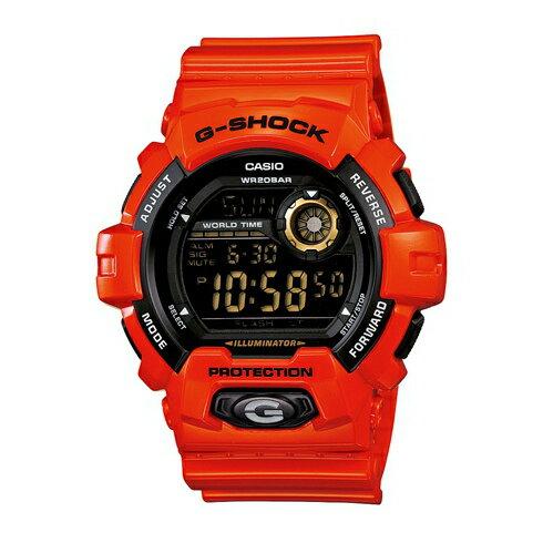 CASIO G-SHOCK G-8900A-4鮮豔橘數位流行腕錶/黑面51mm