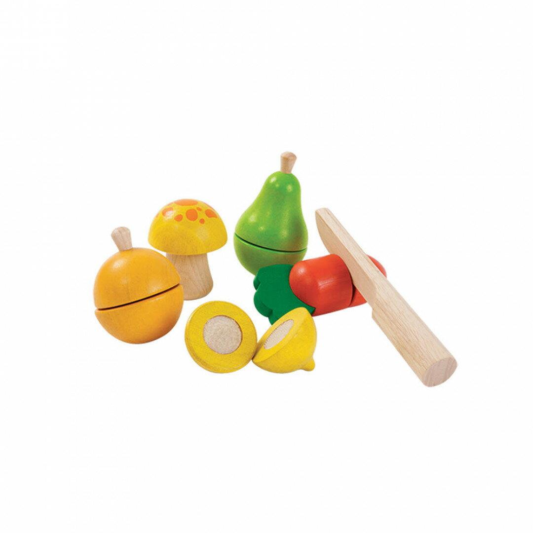 《  PLAN TOYS 》木製  小主廚-切切新鮮蔬果組 東喬精品百貨