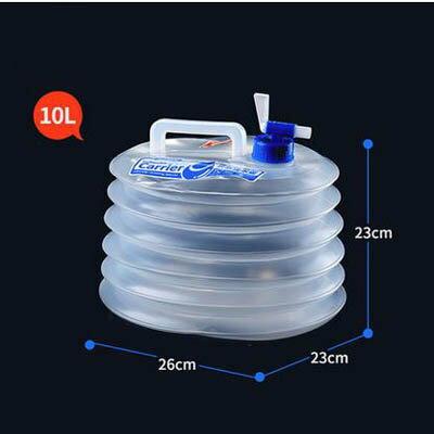 【可?式折疊水桶-10L-26*23*23cm-1套/組】食品級PE飲用水桶車用儲水桶-7670626