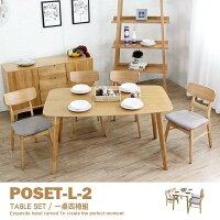 書桌椅推薦推薦到餐桌椅組(橡木款伸縮桌) 書桌椅組 工作桌椅組 北歐熱銷款 1桌4椅 日式宮崎 丹麥北歐原素【PO1481-2ST】 品歐家具就在品歐家具推薦書桌椅推薦