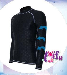 ★草魚妹★F86男泳衣鯊魚男泳衣長袖泳衣有加大正品,售價750元