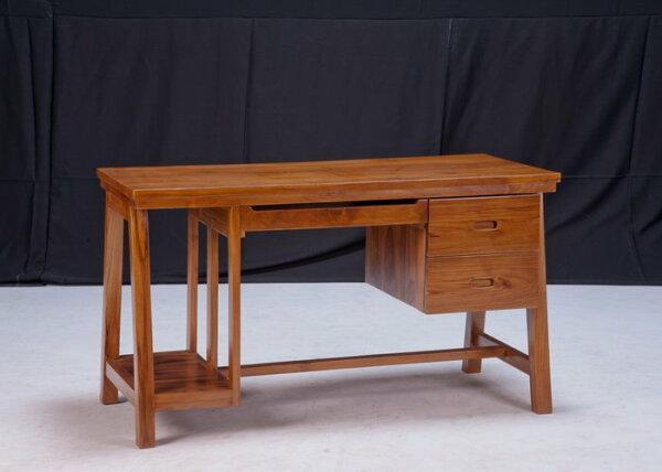 【石川家居】KL-84柚木4尺柚木電腦桌書桌會議桌寫字桌台中以北搭配車趟免運費