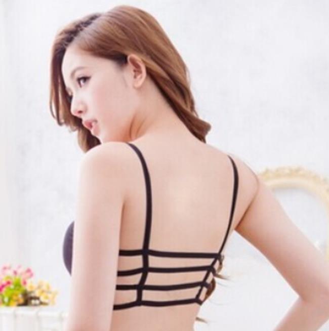 50%OFF【X06581Bra】性感露背美背抹胸式內衣 內搭 帶胸墊文胸 小背心 輕盈可愛 爆乳無痕日系