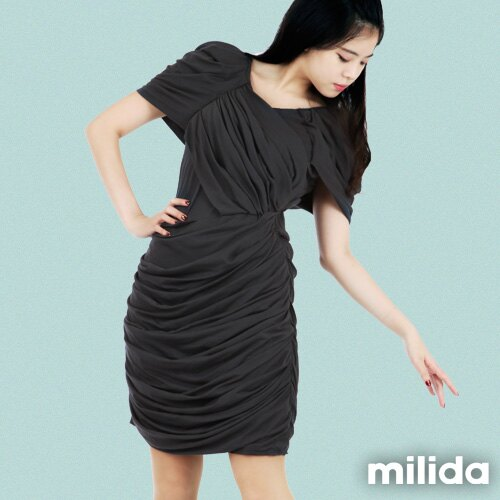 【Milida,全店七折免運】-夏季洋裝-造型款-甜美公主袖設計 4