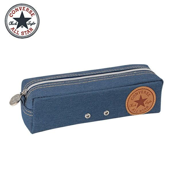 淺色款【日本正版】CONVERSE丹寧風筆袋鉛筆盒ALLSTAR-183008