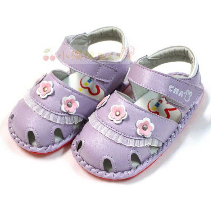 天鵝童鞋Cha Cha Two恰恰兔--小小花涼鞋 學步鞋