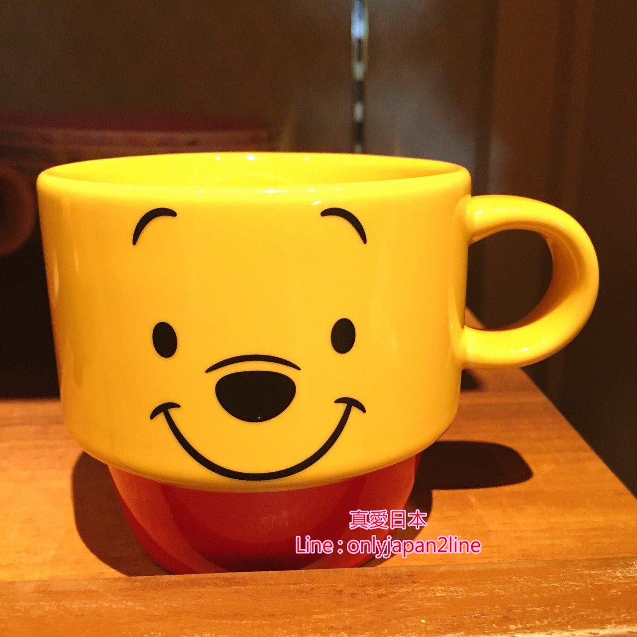 【真愛日本】16091200024樂園限定疊疊馬克杯-經典維尼大臉  迪士尼 維尼家族 POOH  日本帶回 預購