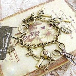 美麗大街【GS216】 外貿飾品 波西米亞風復古剪刀吹風元素手鍊