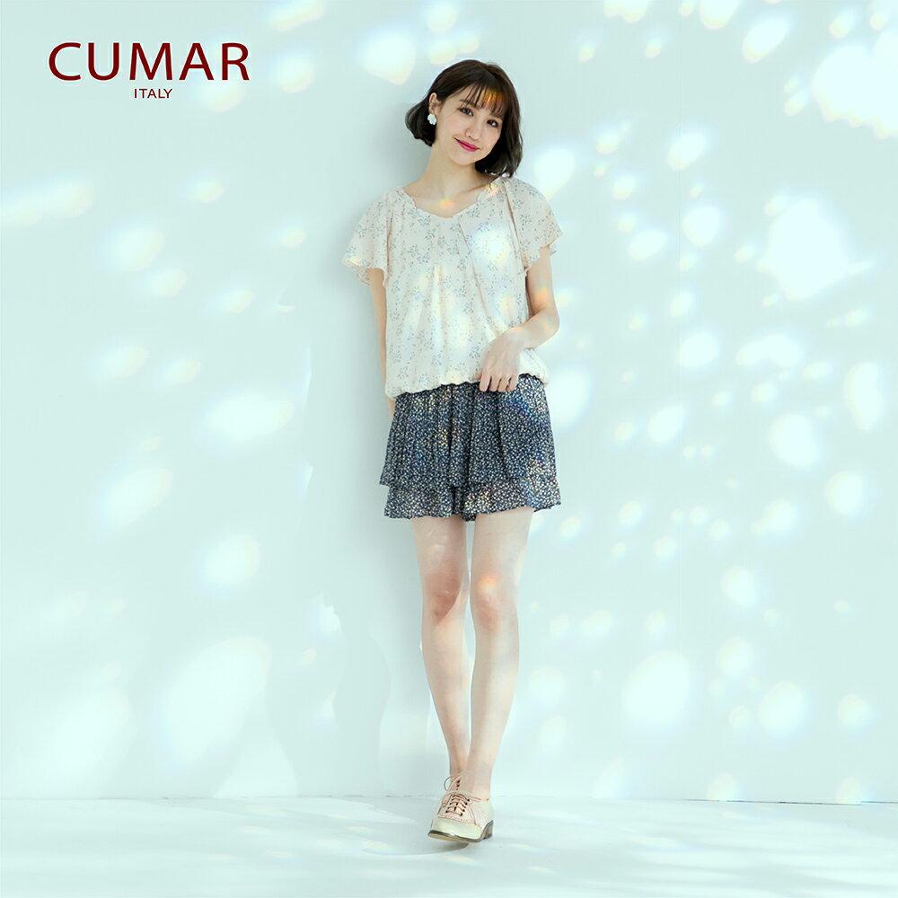 【CUMAR】休閒典雅印花-襯衫(二色) 3