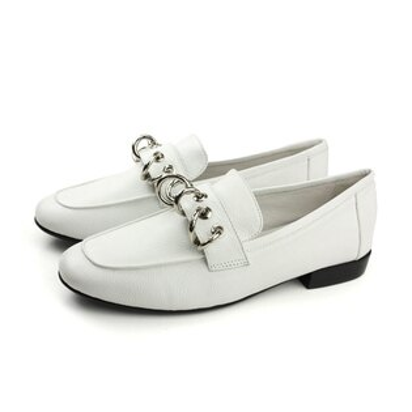 HUMAN PEACE:HUMANPEACE羊皮皮鞋休閒白色女鞋1756-36-25no411