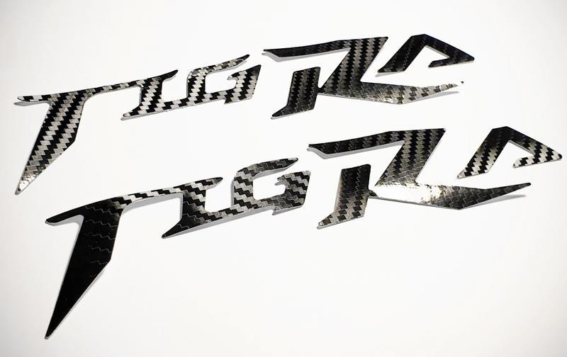 【LFM】SIREN 彪虎 地瓜 TIGRA 碳纖維紋 LOGO 貼紙套組 PGO 0