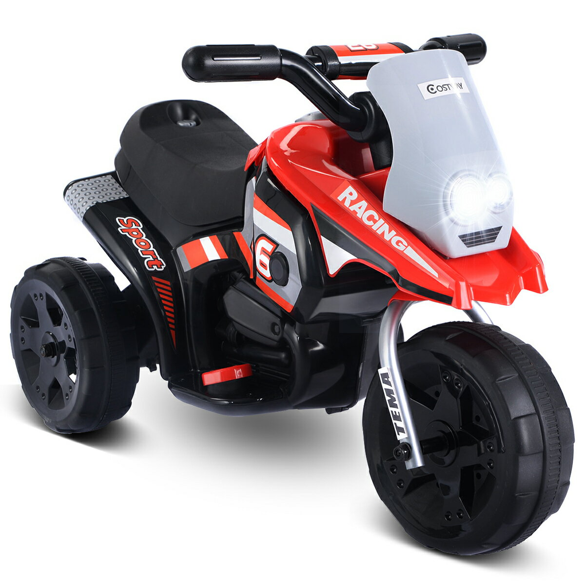 Costway Kids' 6-volt Battery-Powered Ride-On Motorcycle