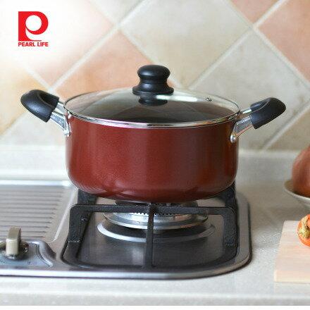【日本珍珠金屬】不沾燉煮鍋(附鍋蓋)-24cm - 限時優惠好康折扣