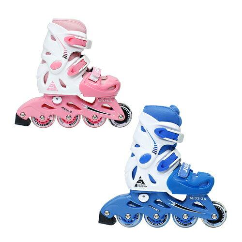 成功發光輪兒童伸縮直排鞋 溜冰鞋(2色)