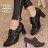 ★399免運★格子舖*【KW3366】MIT台灣製 韓版質感皮革 舒適魔鬼氈穿脫 舒適粗高跟 牛津踝靴短靴 2色 0