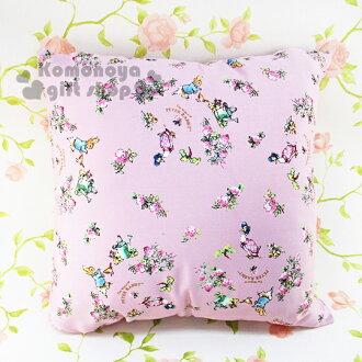 〔小禮堂〕彼得兔 正方型抱枕《大.粉.花朵滿版》可抱.可躺.可靠