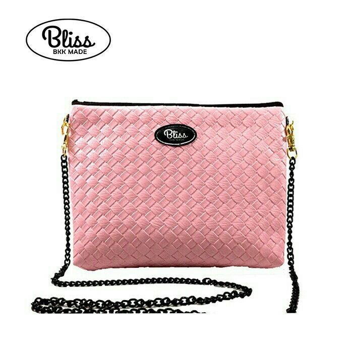 【正版】泰國BLISS BKK包手拿包側背包斜背包-素色編織紋粉紅  (4款背帶可選) 影片實拍 X RUNWAY FASHION ICON