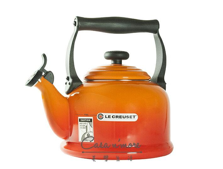 Le Creuset 傳統水壺 笛音壺 2.1L 火焰橘 0