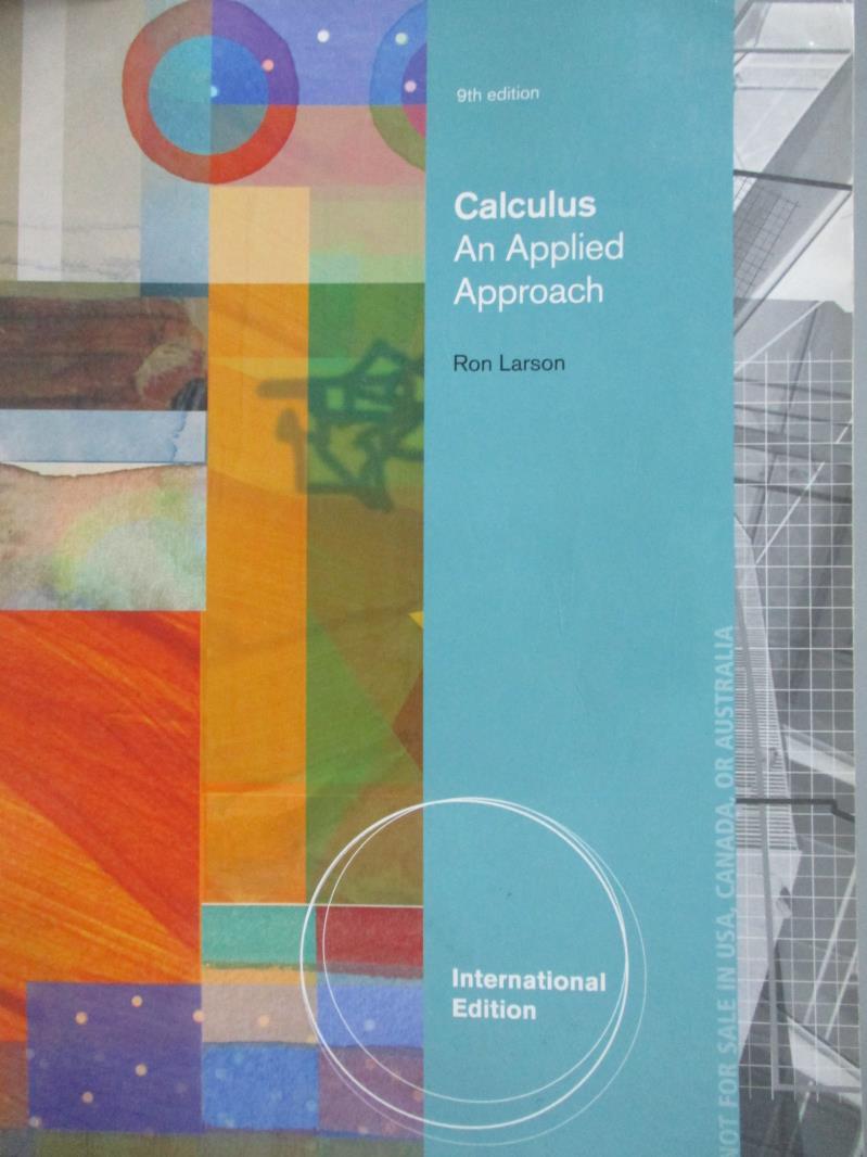 ~書寶 書T5/大學商學_QHZ~Calculus~An Applied Approach9  e_Larson