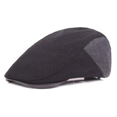 貝雷帽鴨舌帽-秋冬保暖拼色百搭男女帽子2色73tv37【獨家進口】【米蘭精品】