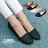 格子舖*【AW529】*限時免運* MIT台灣製 素面透氣皮革 豆豆鞋 圓頭包鞋 娃娃鞋 4色 0