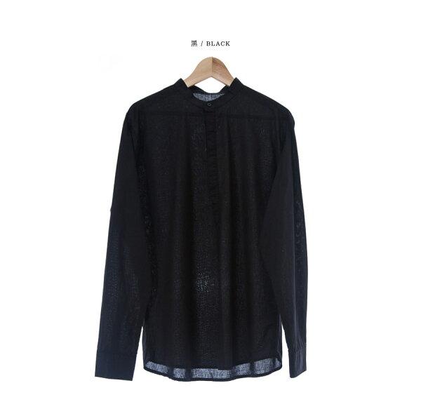 韓國製長袖襯衫4扣水洗【ST20209】-SAMPLE