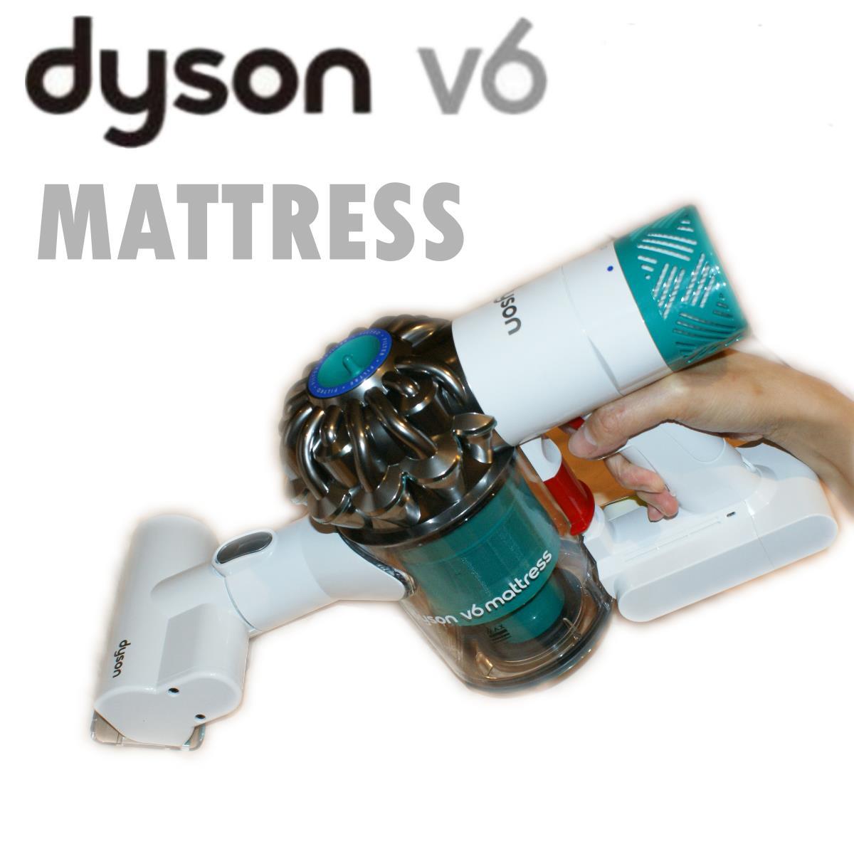 [2/28前,PG會員領券再折350] dyson V6 mattress HH08 HH07無線除塵蹣機 吸塵器 手持 附4吸頭 白綠色 現貨 6期0% 保固一年