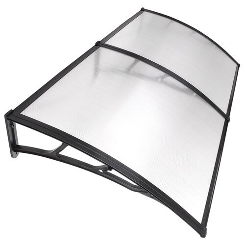 Yescomusa 78x39 Clear Hollow Polycarbonate Porch Window Door Cover Awning For Uv Rain Snow White