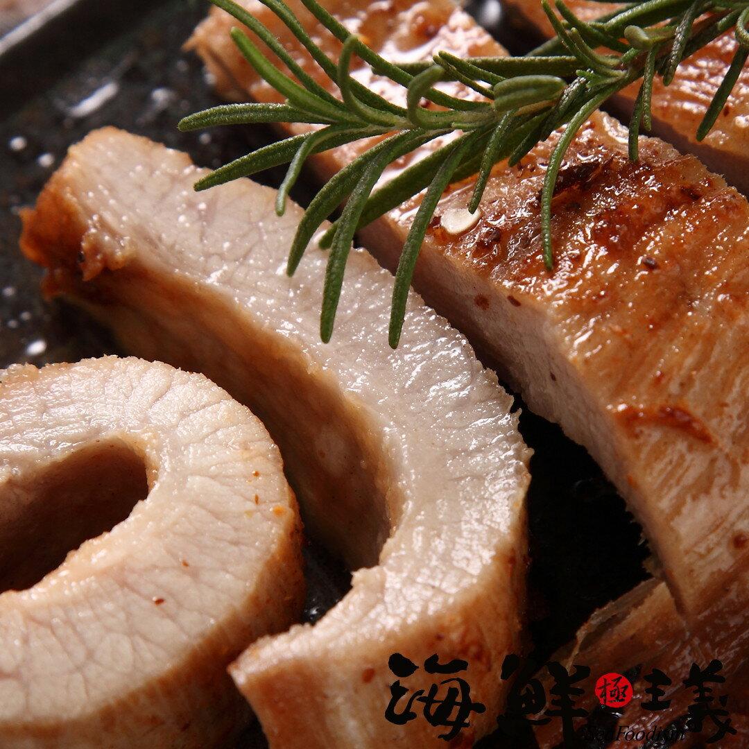 【海鮮主義】松阪豬 6兩(225g±5%)/片 ●嚴選健康豬最珍貴的部位『松阪肉』,有著黃金六兩肉的美譽 ●油嫩油嫩,第一口是脆的,越嚼越軟嫩 ●『跟松阪牛一樣好吃』因而得名 ●饕客最愛的松阪豬
