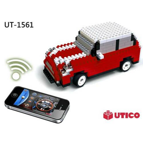 【UTICO微型積木】智慧手機遙控積木車-MINI 古博 1561