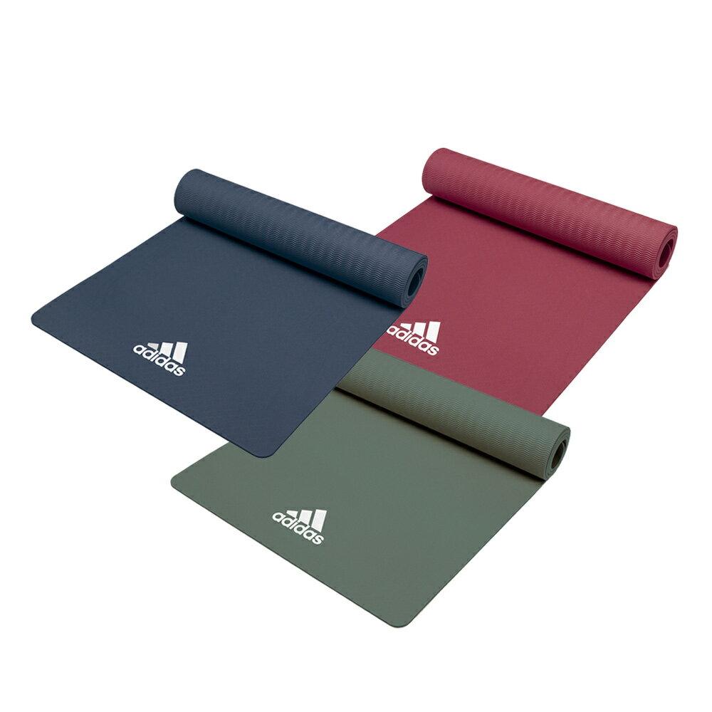 【Adidas愛迪達】輕量波紋瑜珈墊-8mm(共兩色) 1