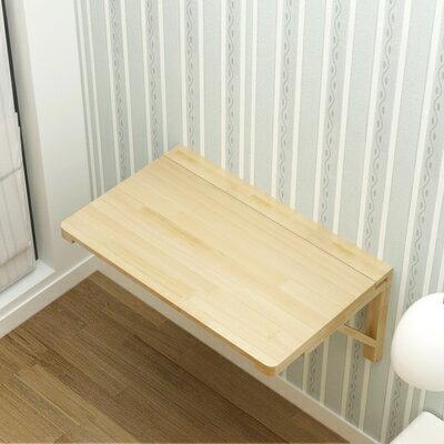 實木壁掛折疊桌小戶型壁掛連壁桌靠牆電腦桌隱形牆桌簡易電腦桌 2