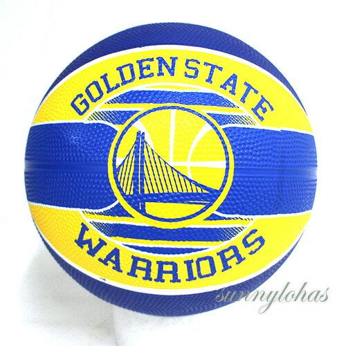 【SPALDING斯伯丁】NBA籃球Jr兒童3號球Warriors勇士隊徽SPA83617[陽光樂活]