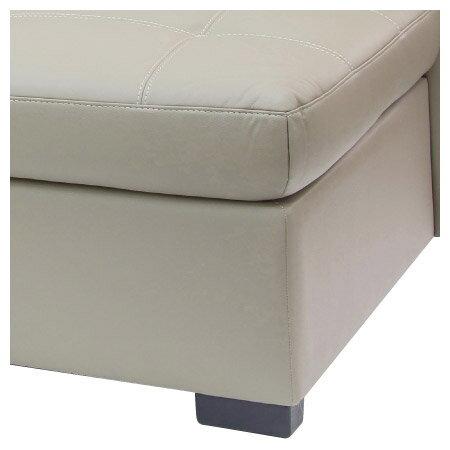 ◎(OUTLET)半皮右躺椅L型沙發 CAPUCCINO LC BE 福利品 NITORI宜得利家居 3