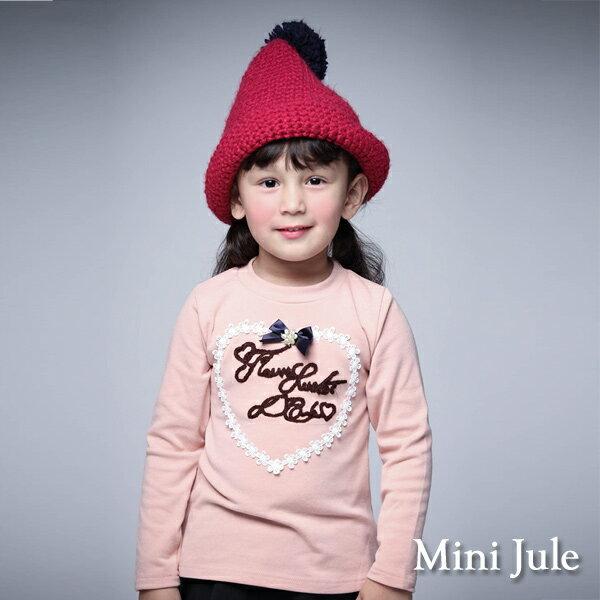 Azio Kids美國派:《MiniJule童裝》上衣花朵排列愛心字母長袖T恤(粉)