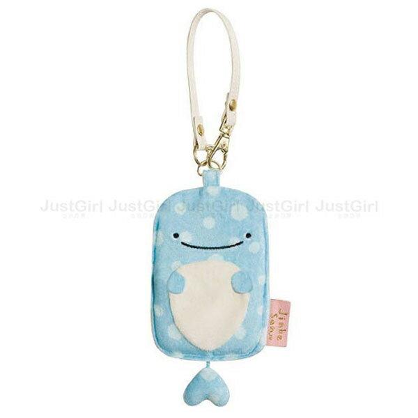 LINE 鯨鯊先生 Jinbesan 票卡套票卡夾 證件套證件夾 悠遊卡套 絨毛 文具 正版日本進口 JustGirl