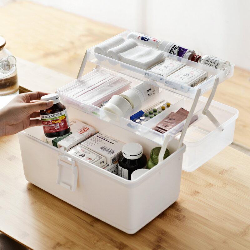 藥箱家庭裝家用大容量多層醫藥箱應急醫護醫療收納藥品藥物收納盒