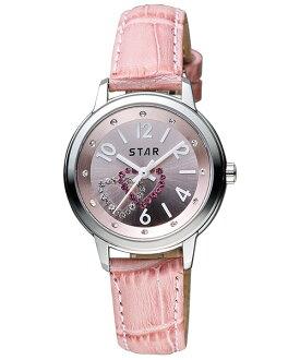 STAR時代錶 7T1407-361S-P雙心匯時尚腕錶/粉紅面30mm