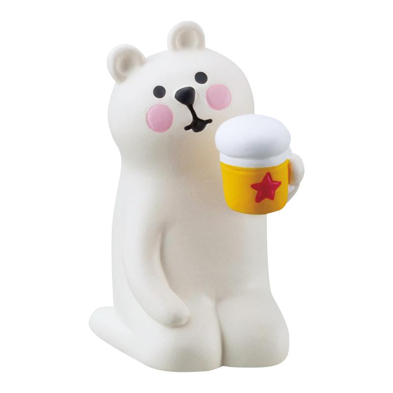 Decole 日本擺設 / 公仔 - Concombre 喝啤酒的北極熊 ( ZSV-87905 ) 現貨